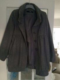 JANE NORMAN GREY COAT Size UK 14
