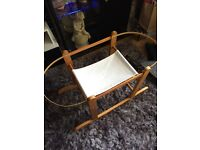 CLAIR DE LUNE MOSES BASKET AND STAND