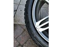 Set 4 20inch Alloys with new Hancook Snowgrabber plus tyres