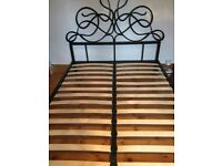 Black metal double bed frame from Next