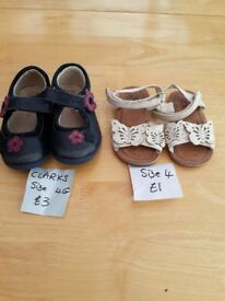 Toddler girls shoes size 3.5 and 4