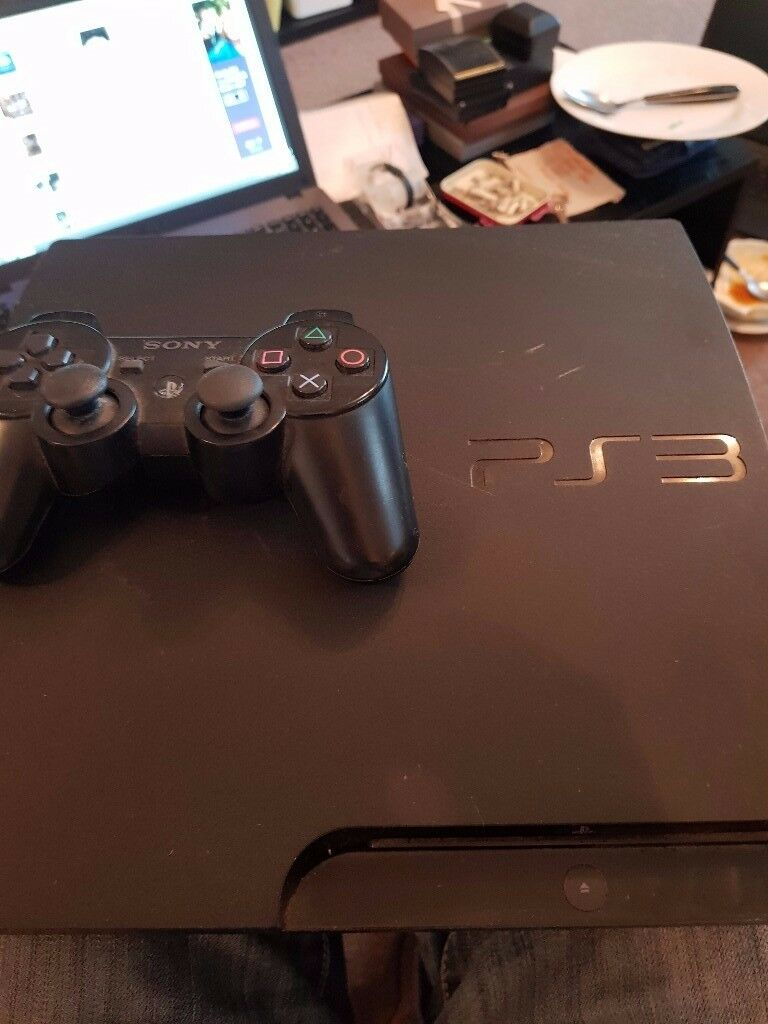 Playstation 3 with 1 controller and 10 games and all cables
