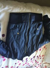 Nearly new bomber style jacket