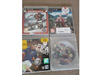 Ps3 console 4 controllers + optional games
