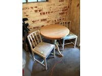 Table and 2 Chairs - in need of upcycling