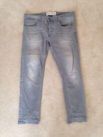Men's grey Jeans Stretch Skinny W36 L30
