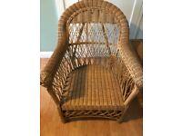 2 Wicker Chair .Tiffany style light , IKEA light,