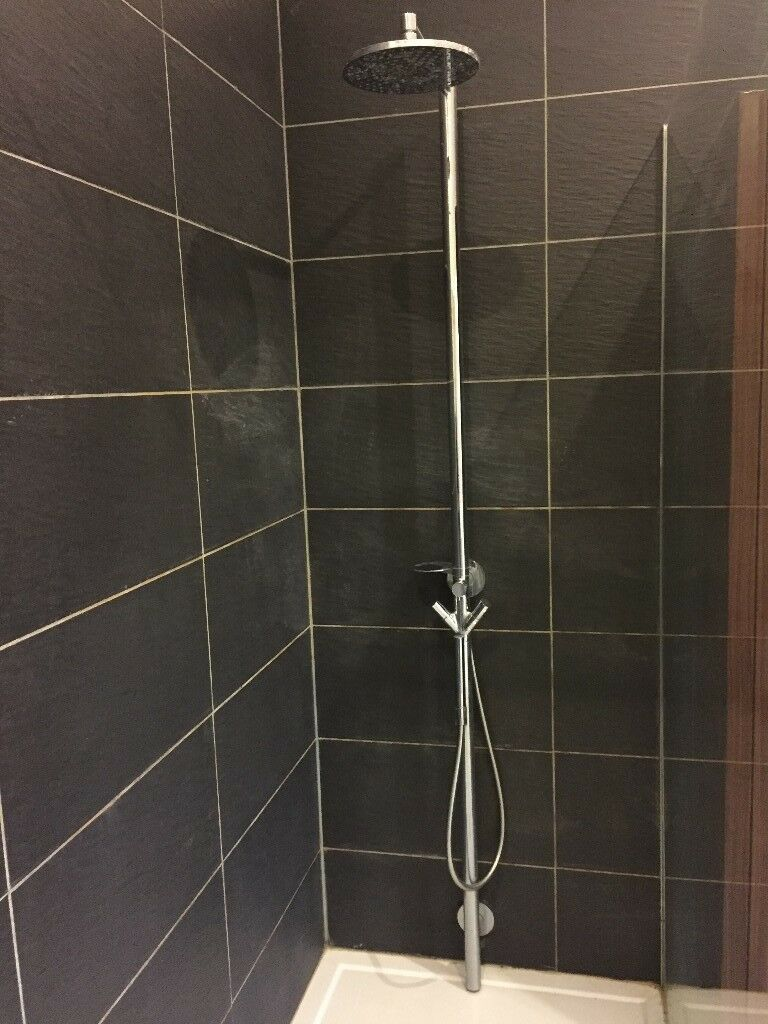 Hansgrohe Axor Starck Shower Rainfall Column & hand shower | in ...