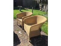 Garden / conservatory wicker table and chairs