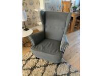 Grey Ikea armchair