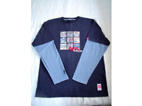 Eco Industries men's navy blue/blue long sleeve t-shirt, top. Size L. £3 ovno. Happy to post.