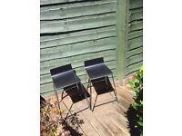 Ikea black bar stool x 2