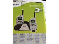 Boxed binatone twin plus 2 way rechargeable mobile radios walkie talkies