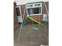 Childrens swing and slide for sale