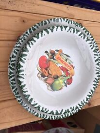 Set of 6 gorgeous ceramic pasta dishes from C.M.S made in Italy
