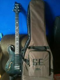 PRS SE 277 Baritone semi hollow guitar