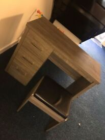 Nearly new vanity table grey solid wood selling due to house move
