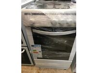 (ex display) CURRYS CFSGWH16 50cm Single Oven Gas Cooker - White