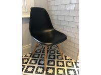 Vitra style black chair