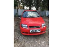 Chevrolet kalos 1.2s petrol red NO MOT