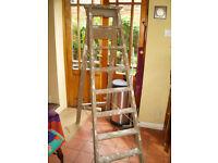 Vintage Heavy Wooden Step Ladder
