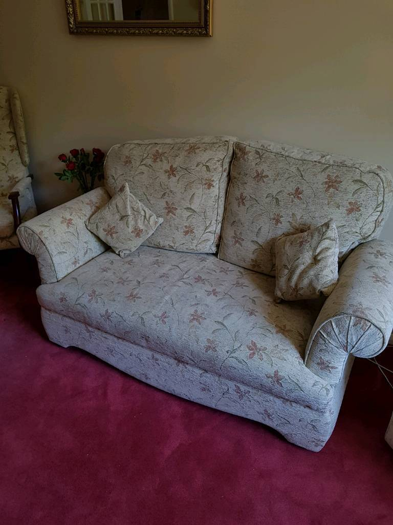 Drop arm sofain Southampton, HampshireGumtree - Two seater sofa. Armes drop to make single bed. Very good condition. Buyer collects. Matching chairs available