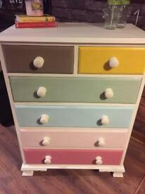 SOLD Multi coloured drawers