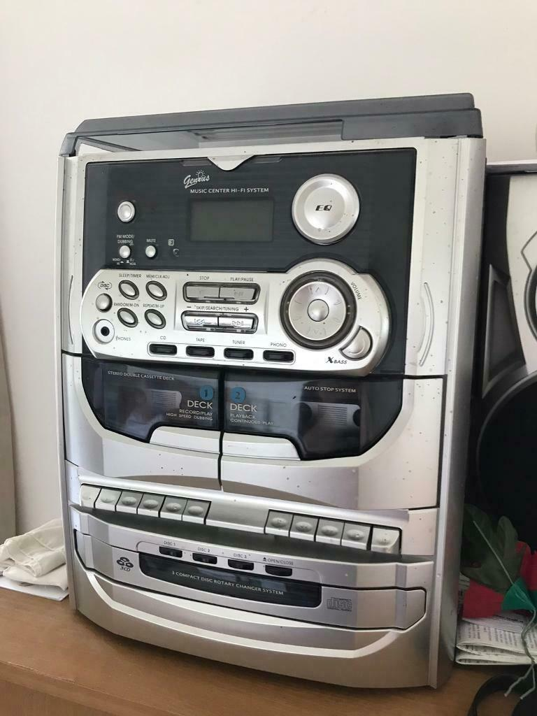 Genius music centre Hi-Fi stereo system & 2 matching speakers | in  Leicester, Leicestershire | Gumtree