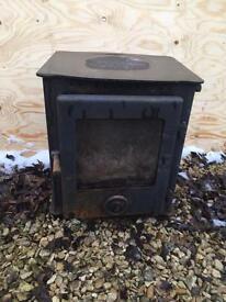 Cast iron log burner