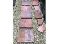 RED CLAY QUARRY TILES, hard to come by 12 inch by 9 inch by 2 1/4 inch, 5no. but all split in half