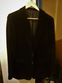 Vintage Black velvet Jacket - Mens Medium size