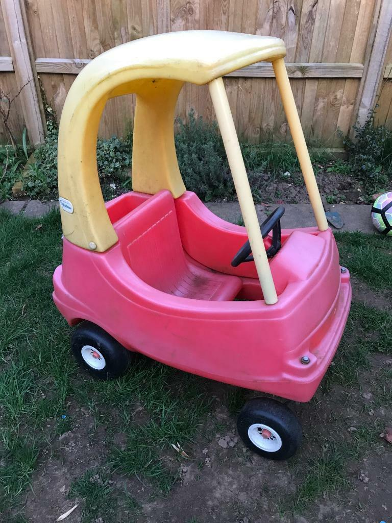 Little tikes cozy cosy coupe car ride on ride in collection Old ...