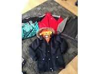Boys sonetti jacket, adidas zipper and nutmeg jacket bundle age 12