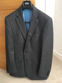 2 piece new wool grey suit
