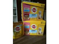 Pedigree Puppy food. (24 pouches)