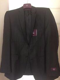 Moss Bros Plain Charcoal Jacket 40S (originally £90)