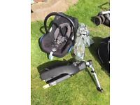 Quinny buzz travel system, car seat and base