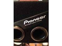 Pioneer high spl band pass subwoofer ta-wx205 250w