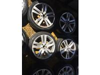 "18"" ALLOY WHEELS MK4 GOLF BORA CELICA BETTLE TT IBIZA LEON SET OF 4"
