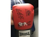 Signed Smith brothers Boxing Glove