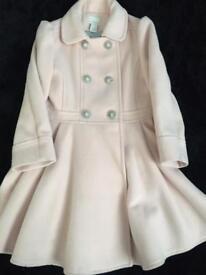 Light pink Monsoon swing coat aged 5-6
