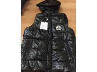 Moncler body warmer jacket black