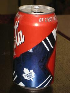 Coca-Cola Cans and Bottles with Hockey Theme