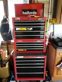Halfords 3 section tool box