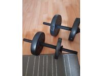 Pro Fitness Vinyl Dumbbell Set - 15kg