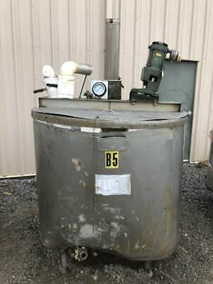 200 Gallon Stainless Steel Insulated Mixing Tank W Lightnin Xjq-30 Agitator 3ph