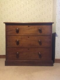 MAHOGANY CHEST OF DRAWERS FOR SALE