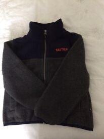 2-3 child's grey and navy Nautica fleece