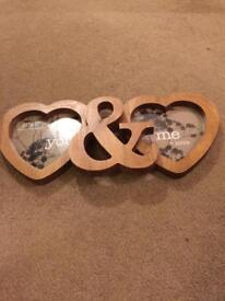 Next Love heart photo frame