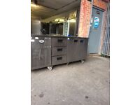 COMMERCIAL COUNTER FOSTER BENCH PIZZA SALAD PREP COUNTER FRIDGE FOR SHOP CAFE RESTAURANT TAKEAWAY